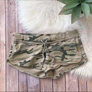 Army Print Lounge Shorts